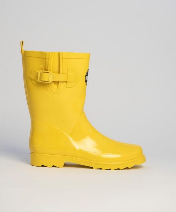 """Monroe"" – Yellow, Short, Wide Wellington Boot"