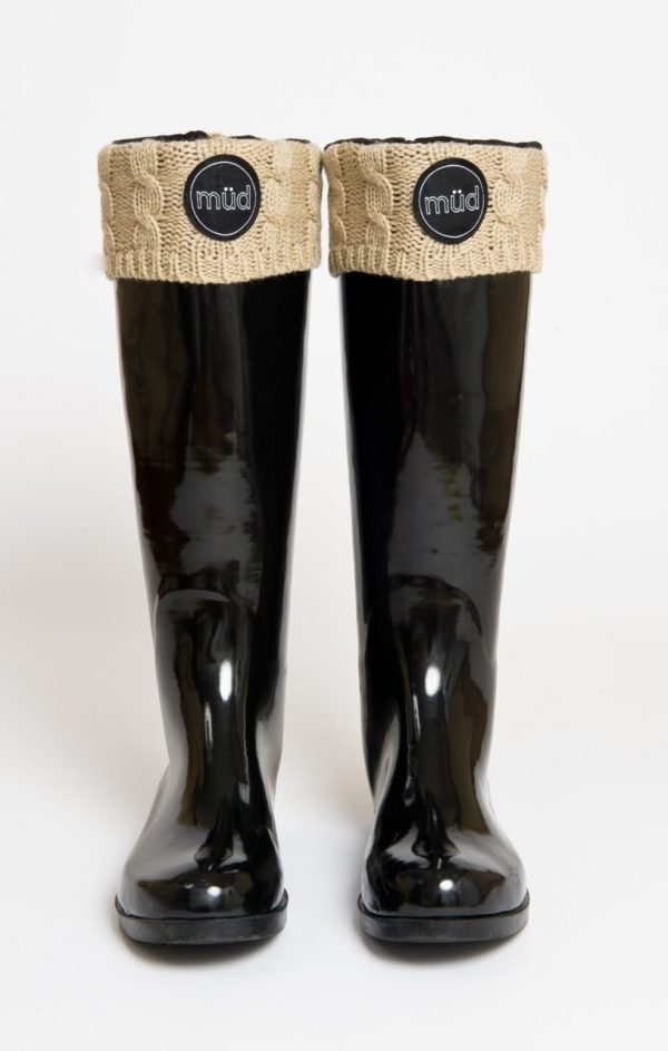 Welly Socks – Foldable Fleece Socks with Woven Top