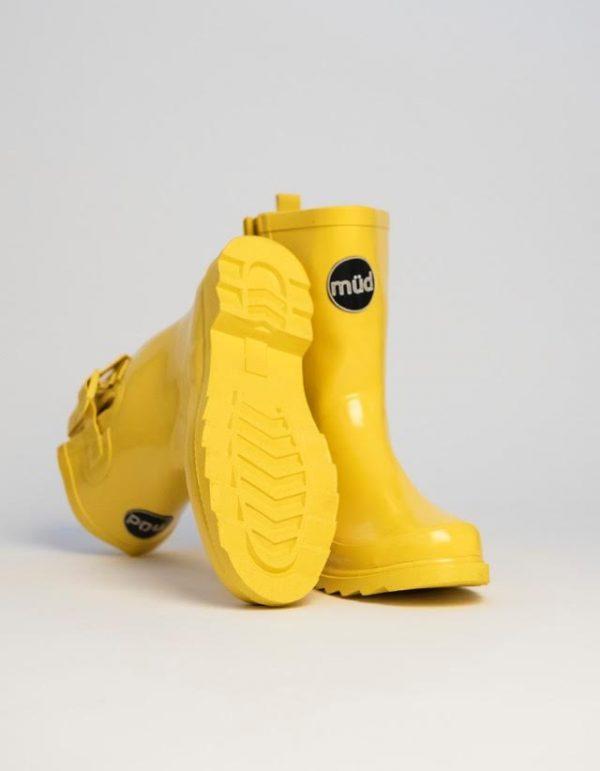 """""""Monroe"""" – Yellow, Short, Wide Wellington Boot"""