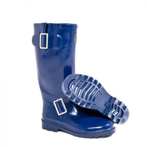 """Woolf"" Blue Side Buckle Wellington Boot"